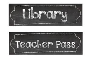 Chalkboard Theme Student Hall Passes