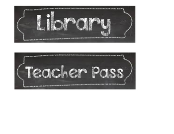 Chalkboard Theme Student Hall Passes