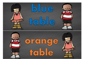 Chalkboard Theme Table Caddie Labels: In English & Spanish!