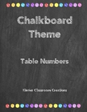 Chalkboard Theme Table Numbers