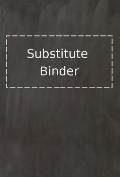 Chalkboard Theme Teacher Binder Covers