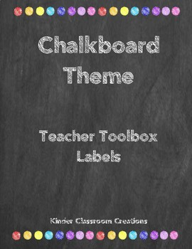 Chalkboard Theme Teacher Toolbox Labels