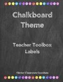 Chalkboard Theme Teacher Toolbox Labels