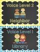 Chalkboard Theme Voice Level Poster Set