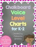 Chalkboard Theme Voice Level Poster Set