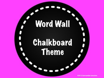 Chalkboard Theme Word Wall