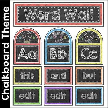 Chalkboard Theme Word Wall