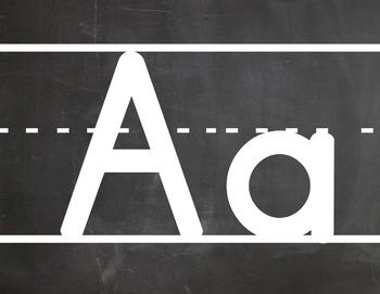 Printing Alphabet with Interline Chalkboard Themed