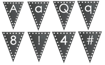 Chalkboard-Themed Alphabet Bunting Set: Letters, Numbers, & Symbols (70+ Pages!)
