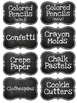 Chalkboard Themed Art Room & Classroom Supply Labels