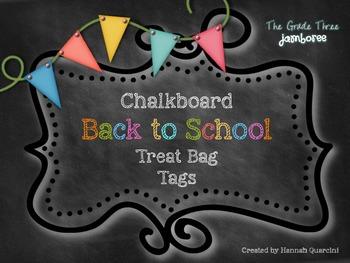 {Chalkboard Themed} Back to School Treat Bag Tags