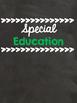 Chalkboard Themed Binder Covers