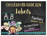 Chalkboard Themed Book Bin Labels