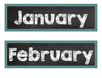 Chalkboard Themed Bulletin Board and Calendar Set