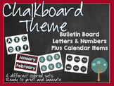 Chalkboard Themed Bulletin Board and Calendar Set