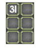 Chalkboard Themed Calendar Numbers {Green}