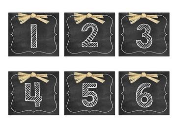 Chalkboard Themed Calendar Set