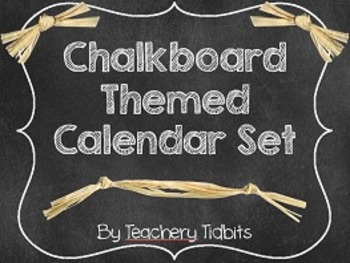 Chalkboard Themed Calendar Set