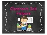 Chalkboard Themed Class Job Helpers