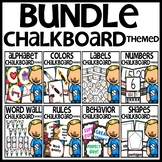 Chalkboard Themed Classroom Decor Bundle