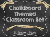 Chalkboard Themed Classroom Set