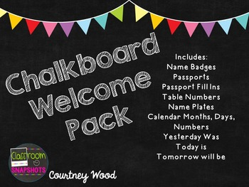 Chalkboard Themed Classroom Welcome Pack