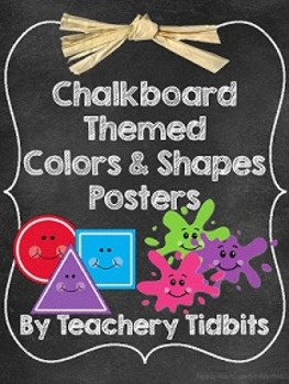 Chalkboard Themed Colors & Shapes Posters