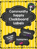 Chalkboard Themed Community Supply Labels