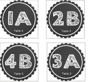 Chalkboard Themed Cooperative Learning Desk Tags