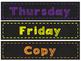 Chalkboard Themed Drawer Labels