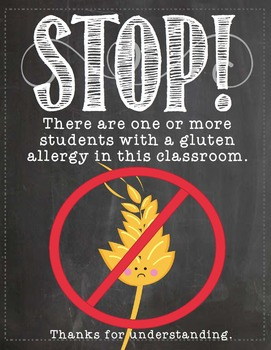 Allergy Posters Chalkboard Themed