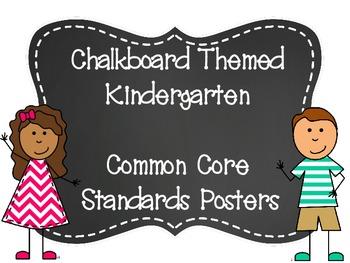 Chalkboard (ELA & Math) Kindergarten Common Core Standards