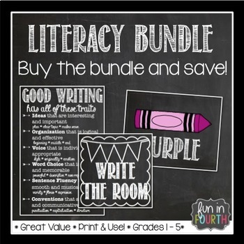 Literacy Bundle - Anchor Charts, Word Cards, Rotation Cards and More