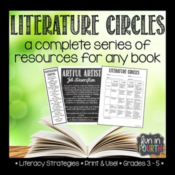 Literature Circle Role Cards, Recording Sheets, Self Assessment and More