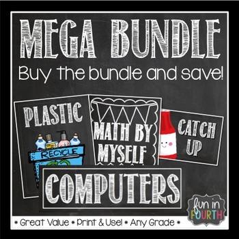Chalkboard Themed Decor Mega Bundle