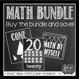Math Bundle - Anchor Charts, Number Cards, Rotation Cards and More
