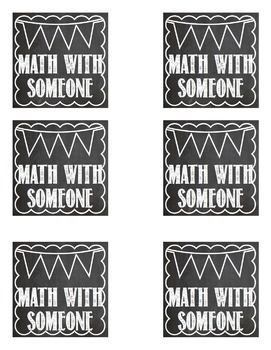 Math Rotation Cards Chalkboard Themed