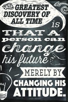 Chalkboard Themed Motivational Quote Poster - Oprah Winfrey