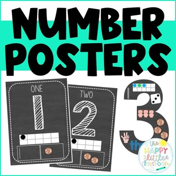 Chalkboard Themed Number Posters