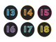 Chalkboard Themed Number Tags 1-30