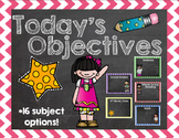 Chalkboard Themed Objectives