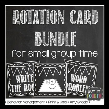 Literacy and Numeracy Rotation Card Bundle Chalkboard Themed