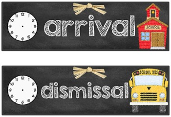 Chalkboard Themed Schedule Cards