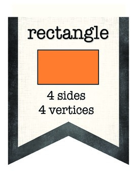 Chalkboard Themed Shapes Pennants or Posters