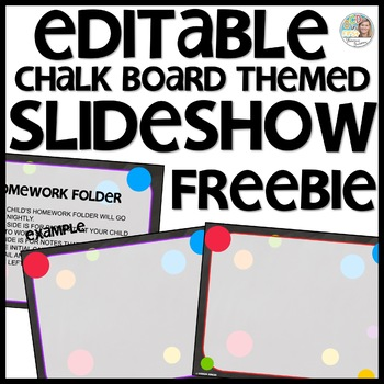Chalkboard Themed Slideshow Presentation Editable - just add text