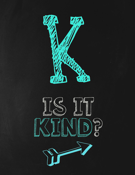 Chalkboard Themed THINK Poster Set