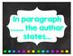 Chalkboard Themed Text Evidence Sentence Starter Posters