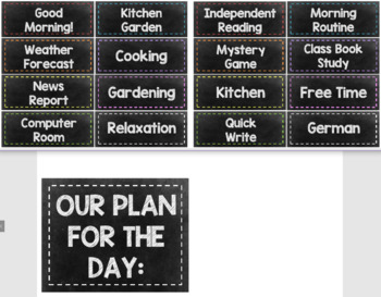 Chalkboard Themed Visual Timetable