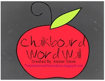 Chalkboard Themed Word Wall