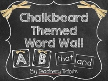 Chalkboard Themed Word Wall {EDITABLE}